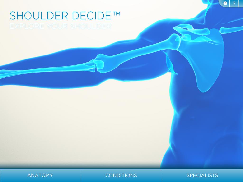 portada de la app shoulder decide, una app para dispositivos móviles muy útil para realizar ejercicios de fisioterapia en casa